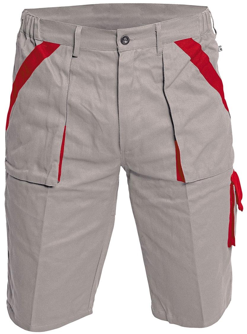 Pracovné odevy-Montérkové šortky MAX SIVO ČERVENÉ  14e63e678b