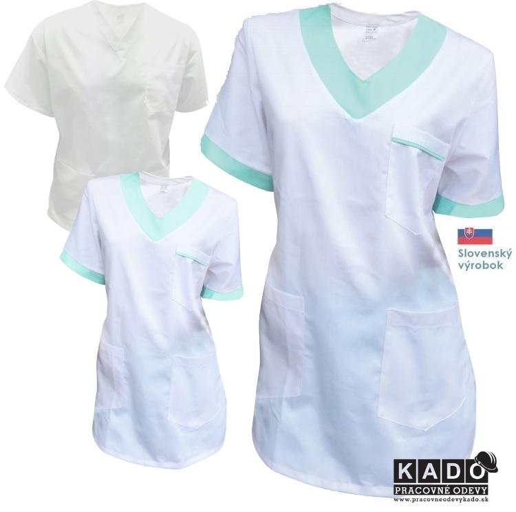 805ebb70b518 Pracovné odevy - Dámska bavlnená zdravotná blúza do V Červa ...