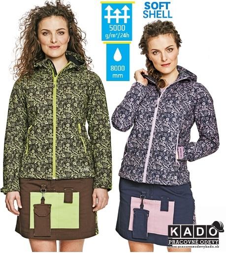 Dámska softshellová bunda YOWIE PRINTED ČERVA  8cf0299bd4