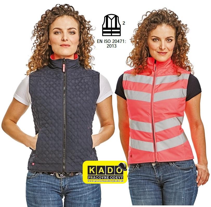98ed38ad4144 Dámska obojstranná reflexná vesta CORIO LADY CRV rúžová