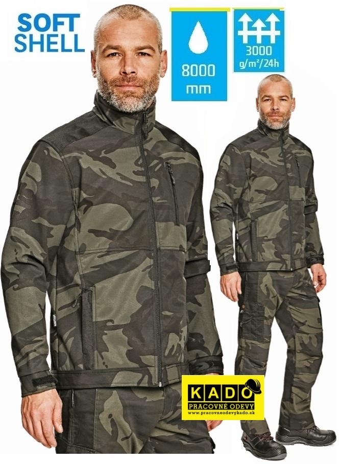 Pracovné odevy - Softshellová maskáčová bunda CRAMBE CRV  e47f35091d