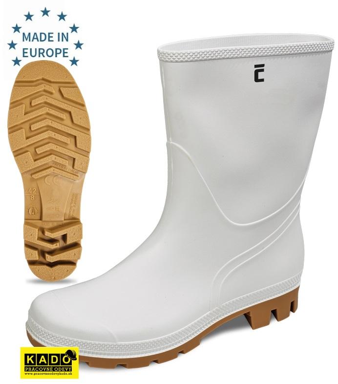 7799d1680e67 Pracovná obuv - Protišmykové čižmy TRONCHETTO OB SRA biele