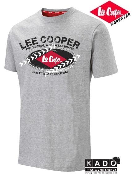 Pracovné odevy - tričko Lee Cooper LCTS014 sivé  51766ddb90c