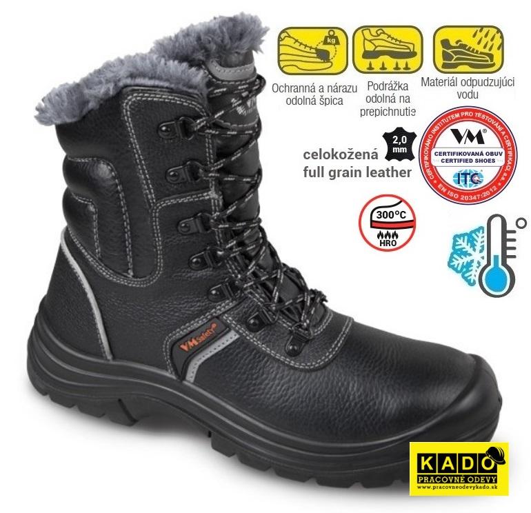 316956f481b6 Bezpečnostná holeňová zateplená obuv VM - SHEFFIELD S3 WINTER ...