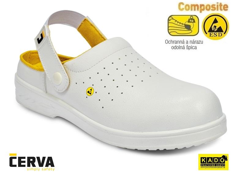 b2ad9029d9 Bezpečnostná obuv - sandále RAVEN ESD CLOG SB SRC BIELE