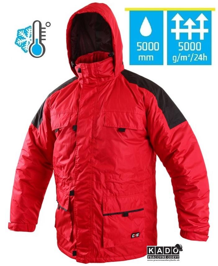 Pracovné odevy - zateplená bunda FREMONT CXS ČERVENÁ  b25a840ceaf