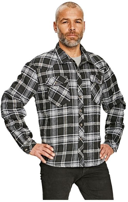 b24753750736 Pracovné odevy - Zateplená flanelová košeľa LEGGA ČERVA