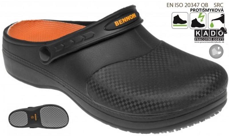 8a7d3d1da Pracovné sandále BENNON MAXIM OB BLACK Slipper ČIERNE dopredaj ...