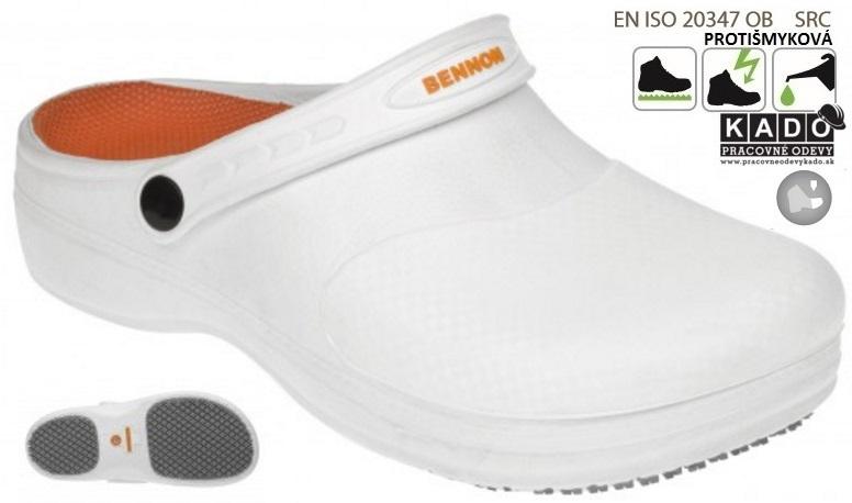 5018c5d19 Pracovné sandále BENNON MAXIM OB Slipper BIELE dopredaj   PRACOVNÉ ...