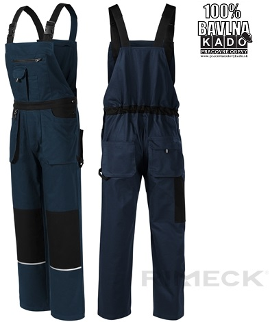 669f7f47c402 Pracovné odevy - mont. nohavice traky W02 WOODY RIMECK ADLER 02 TMAVOMODRÉ