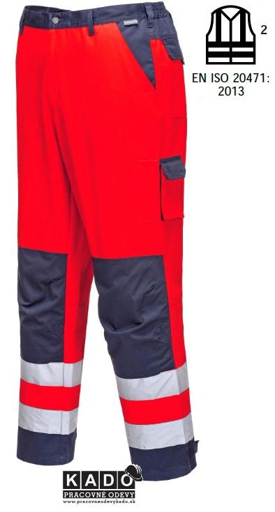 ac09012c94bf Pracovné odevy - Reflexné nohavice TX51 PORTWEST HI-VIS ČERVENÉ ...