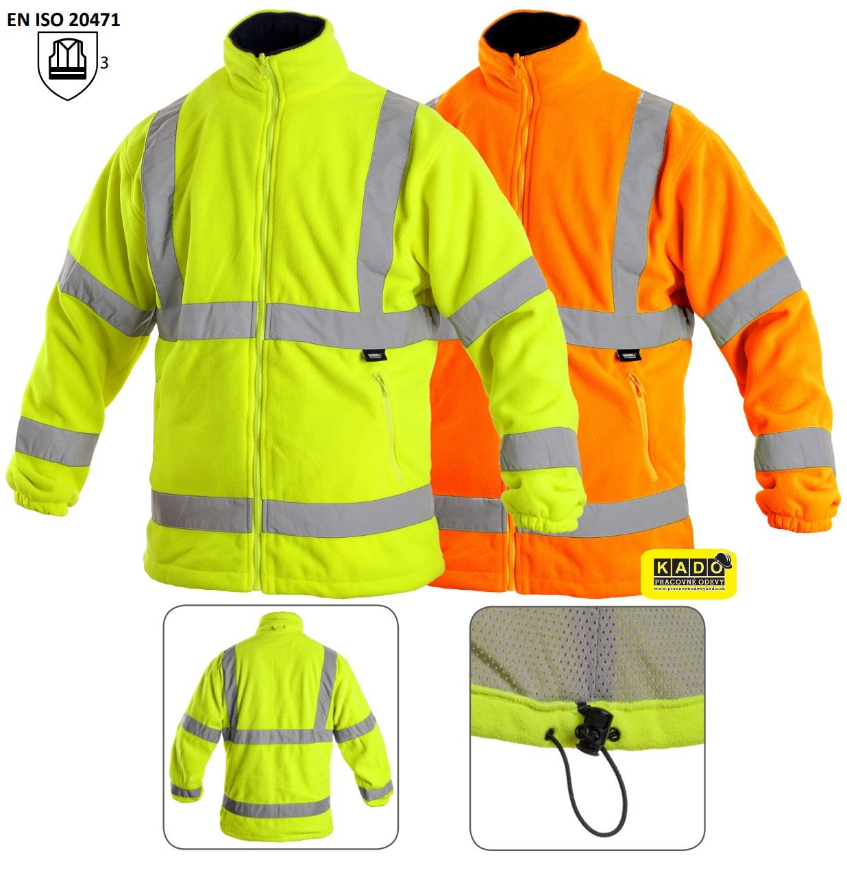 dac1a981e98 Pracovné odevy - reflexná fleece bunda PRESTON VIZWELL VWFC13 CXS