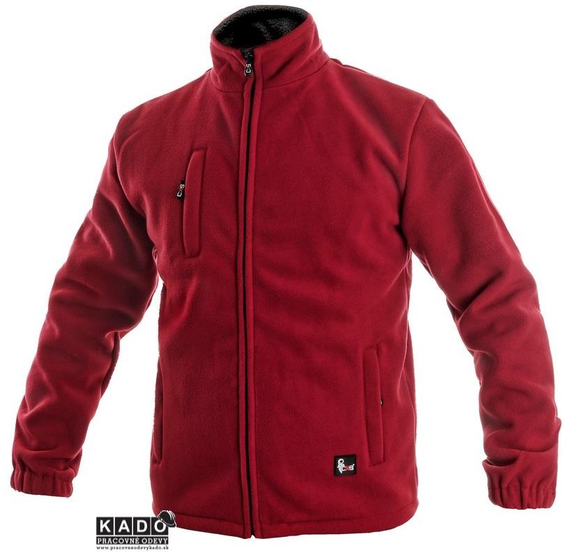386dcc9c07f Pracovné odevy - fleecová bunda OTAWA 450g červená