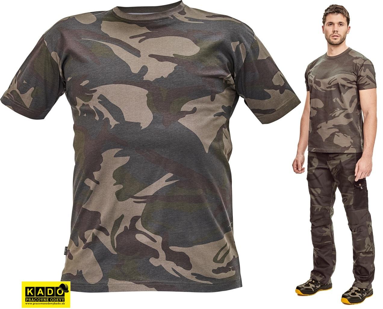 Pracovné odevy - maskáčové tričko CRAMBE CRV  fac09de470