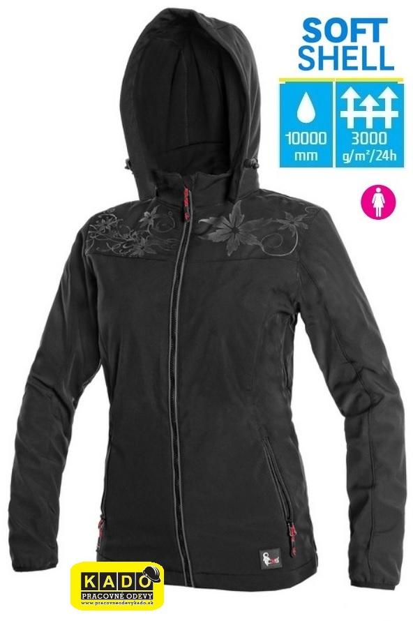 Pracovné odevy - Dámska softshellová bunda PAGE CXS ČIERNA ... 2a09c899e14