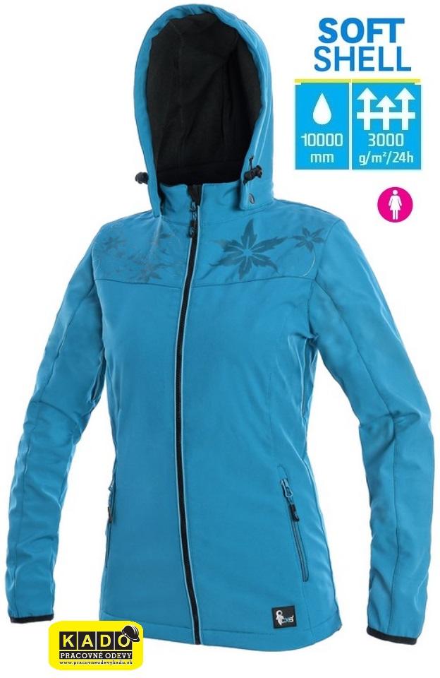 Pracovné odevy - Dámska softshellová bunda PAGE CXS MODRÁ  9a30260971c