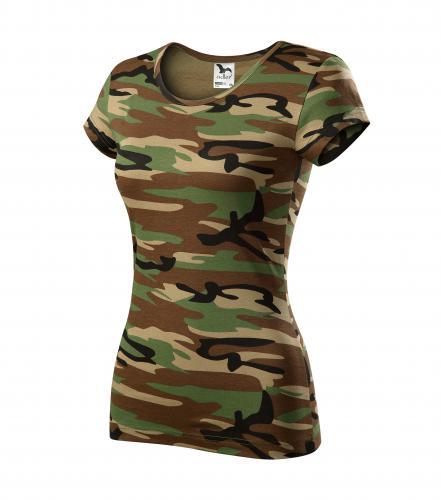 122 Dámske maskáčové tričko PURE 150 adler 33 CAMOUFLAGE BROWN ... f9793b08d70