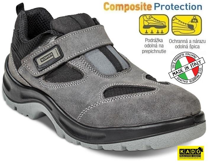 e4b85f21e7 Bezpečnostná obuv PANDA - sandále AUGE S1P