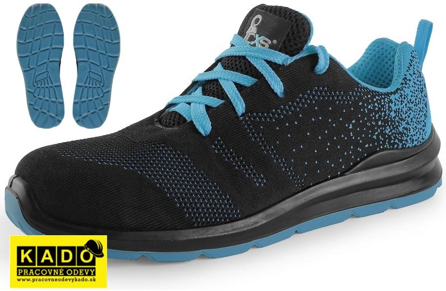 47468dde3 Pracovné textilné poltopánky ISLAND KORNAT O1 CXS modro/čierne ...