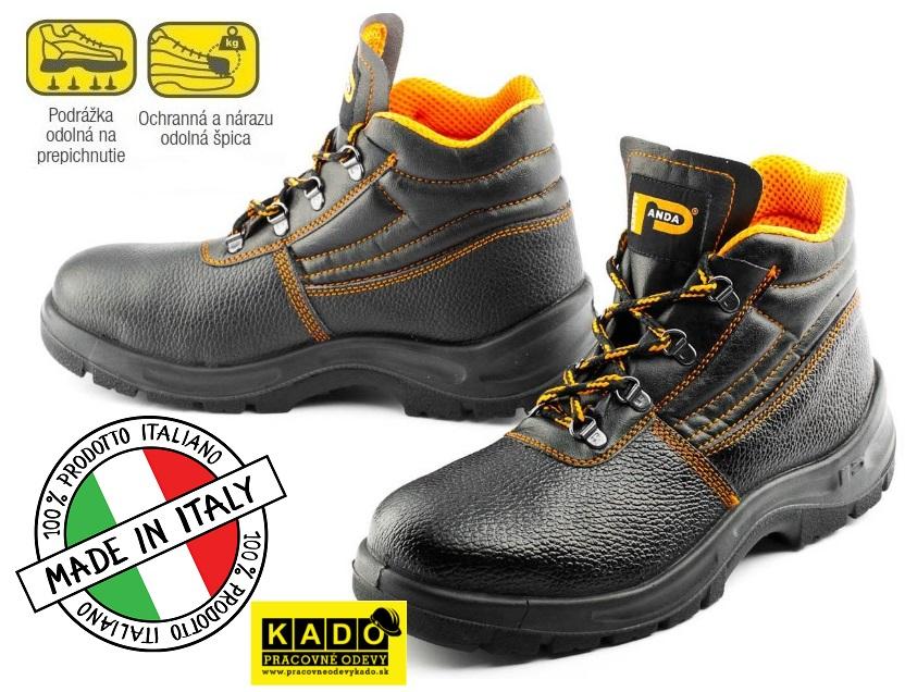 2a0c7ebb48be9 Bezpečnostná obuv PANDA ERGON Ankle S1P ALFA