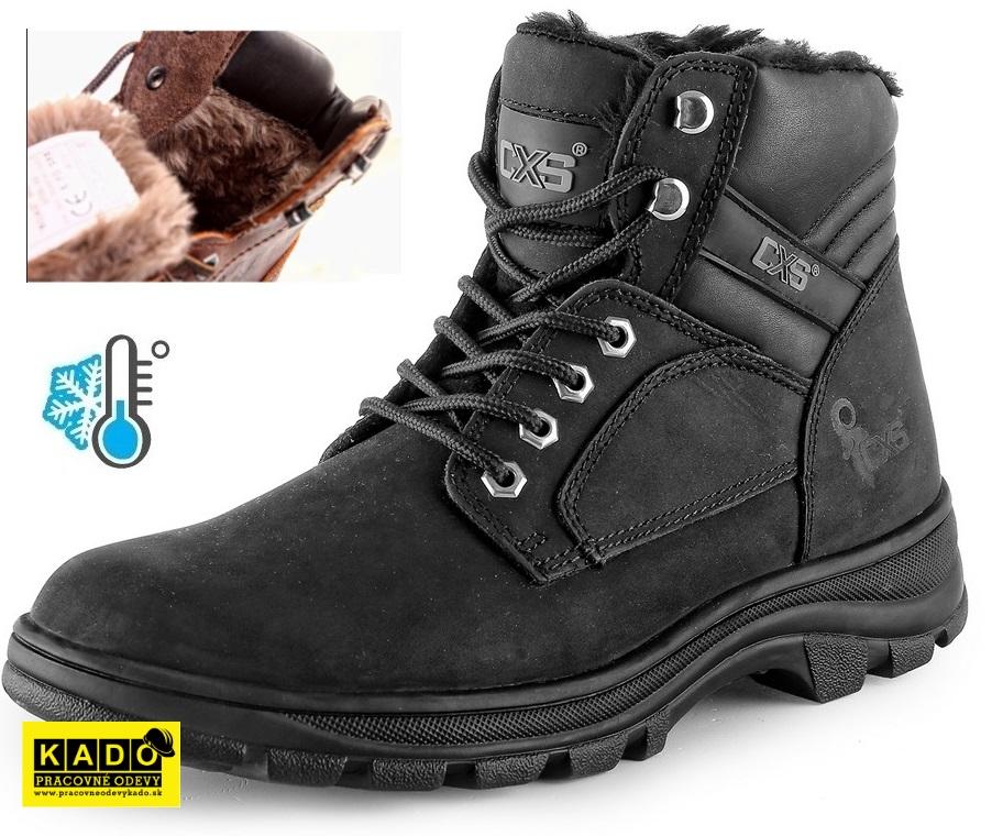 Pracovná zateplená obuv ROAD INDUSTRY WINTER členková ČIERNA ... c7b2949ea3a