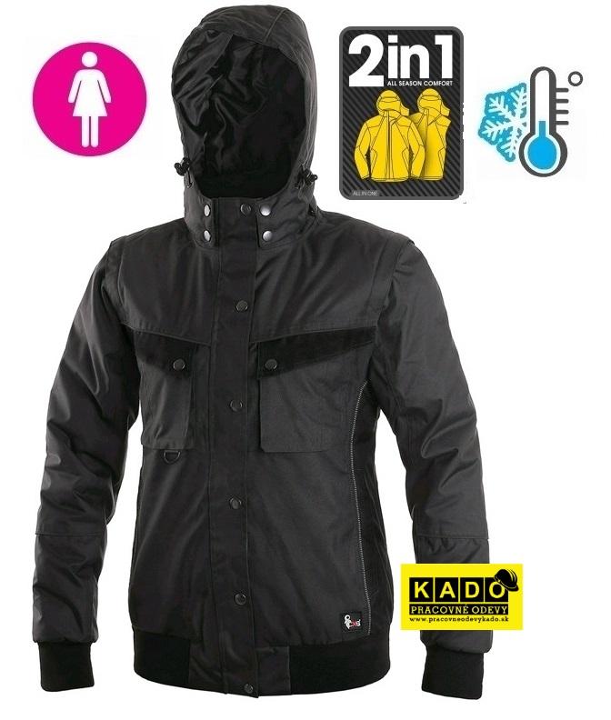 Dámska zateplená pracovná bunda IRVINE CXS sivo čierna  57d011d01eb