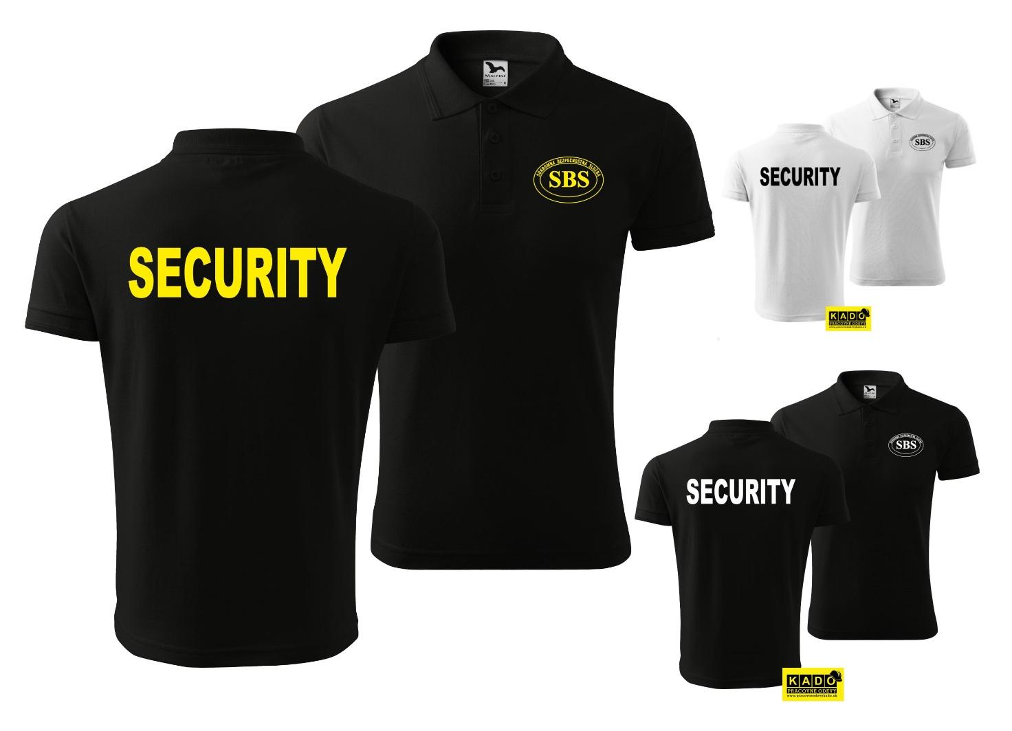 58367b834 Polokošeľa PIQUE POLO 200g POTLAČ SBS + SECURITY