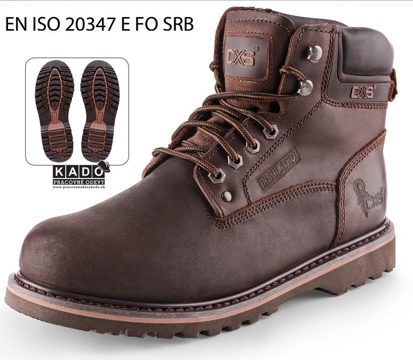 Pracovná obuv ROAD GRAND CXS členková HNEDÁ  76d6695212b