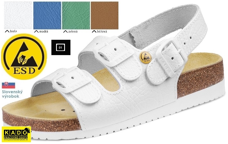 59c05501b97b Pracovná obuv - zdravotné ortopedické sandále ESD 080462 Pánske