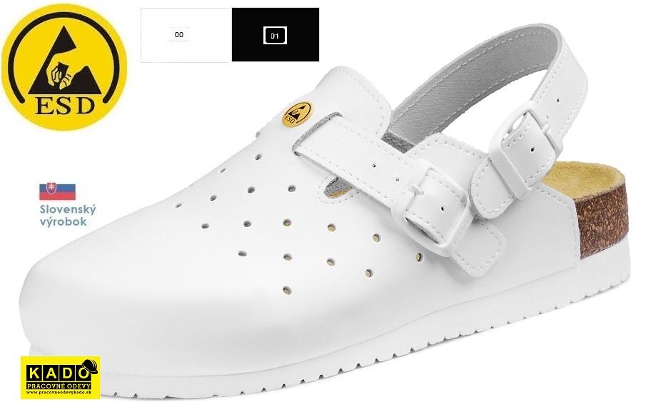 5898811f7a41 Pracovná obuv - zdravotné ortopedické sandále ESD 080509 barea