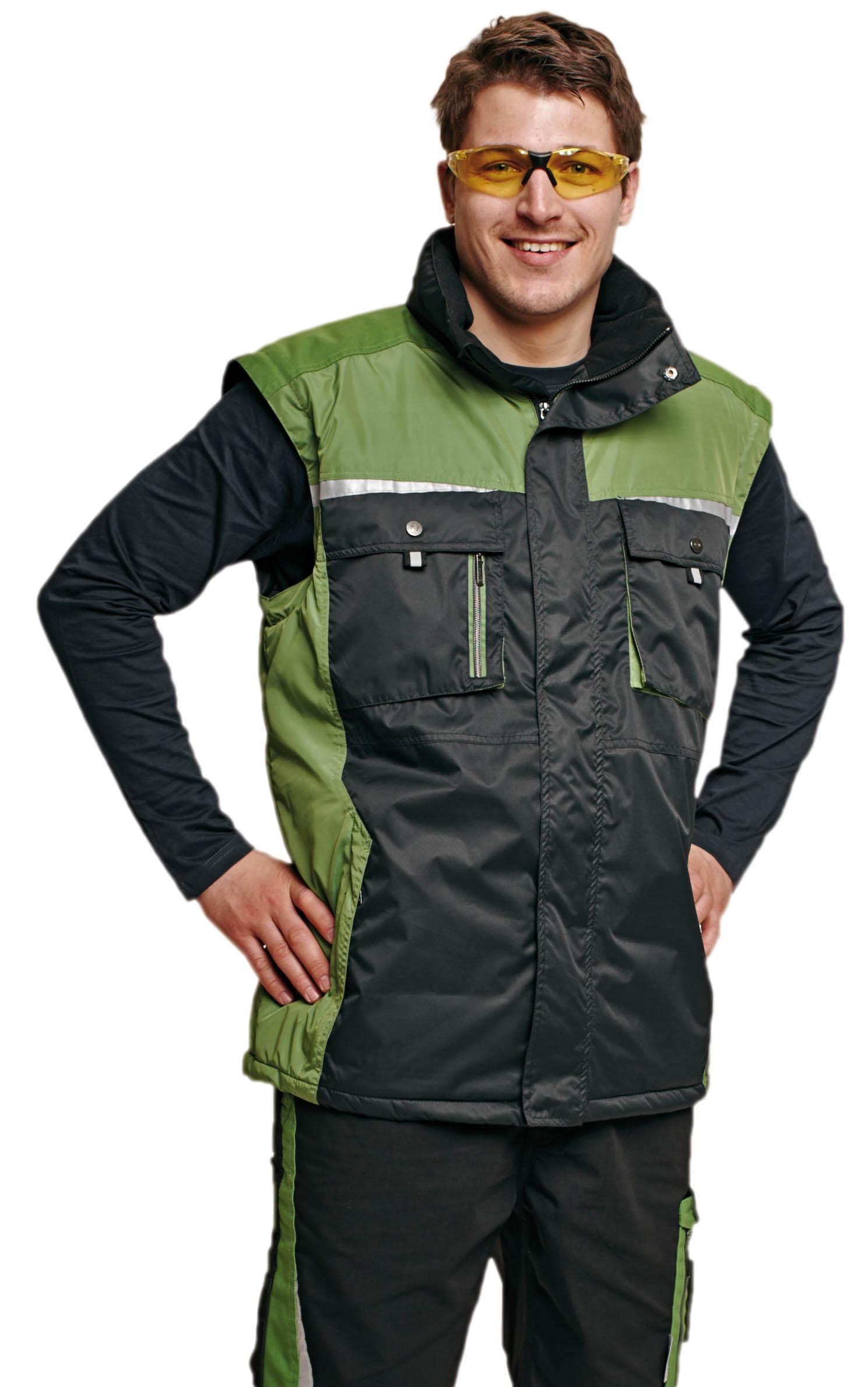 Pracovné odevy - zimná BUNDA ALLYN 2V1 zeleno-čierna  fd1a1d14a01