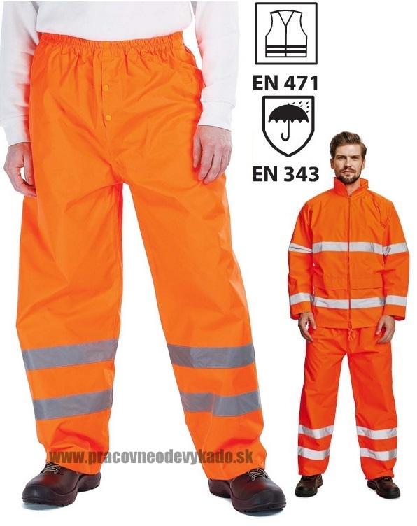 Pracovné odevy - reflexné nohavice GORDON ORANŽOVÉ 9857b2b3a01