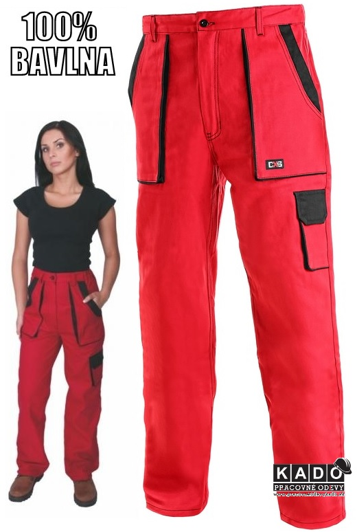 c36e0a8306b9 Pracovné odevy - Dámske nohavice CXS LUXY ELENA červené