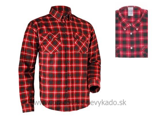 4bfe16297267 Pracovné odevy - flanelová bavlnená košeľa TOM CXS červená