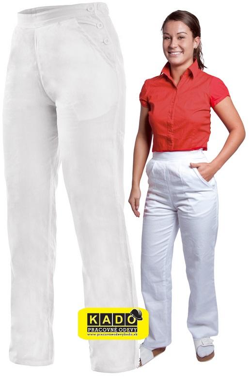 5d590ec8b91c Pracovné odevy-dámske bavlnené nohavice DARJA biele pevný pás NOVINKA