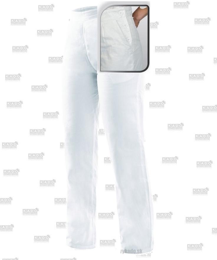 ede23f3d86d0 Pracovné odevy-dámske bavlnené nohavice DARJA CXS biele do gumičky