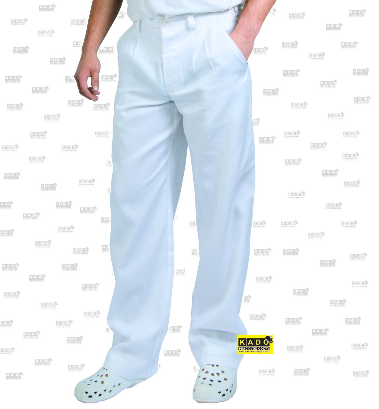 c66a1d702828 Pracovné odevy - Nohavice biele ARTUR CXS pánske