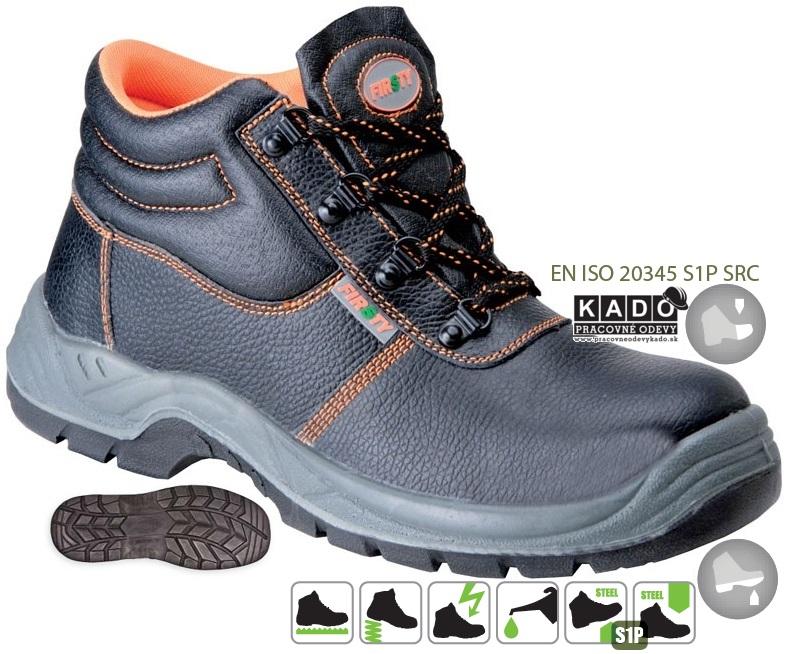 Pracovná a bezpečnostná obuv s oceľovou špicou a planžetou 5217688a89