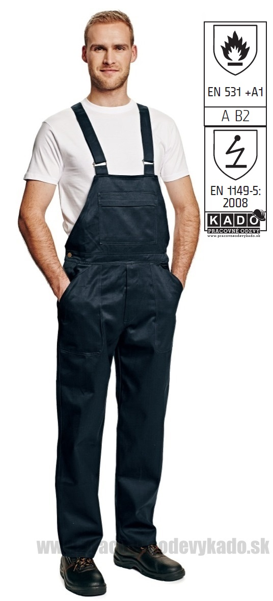 5fba8c8adc19 Pracovné odevy - Antistatické Nohavice COEN s náprsenkou s nehorľavou  úpravou