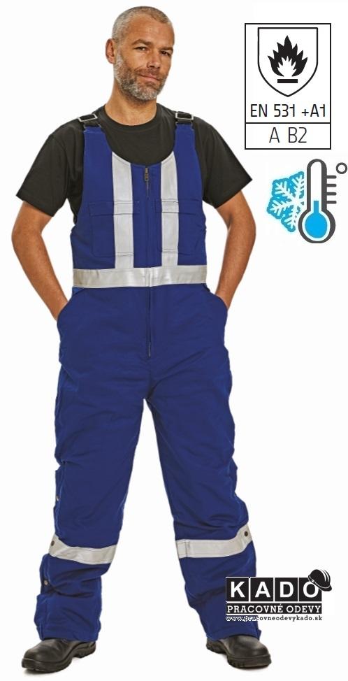 ae075b3295aa TUGELA Zateplené nohavice s náprsenkou s nehorľavou úpravou