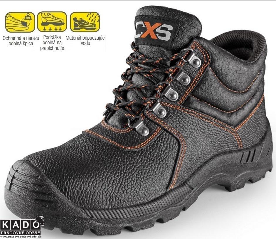 Pracovná a bezpečnostná obuv s oceľovou špicou a planžetou 6691700cfd8