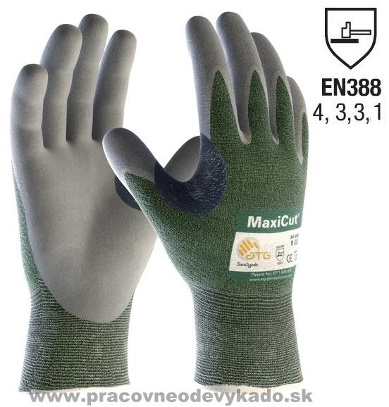 1e39b9ecf81 Neporezné Pracovné rukavice ATG MAXICUT DRY 34-450 atg sivo zelené
