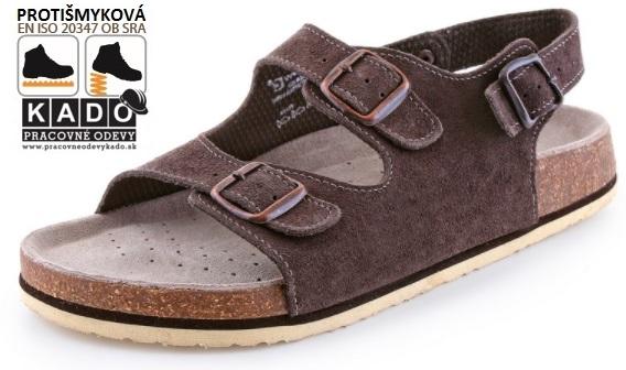 795237c8cdc4 Zdravotná obuv - dámske sandále CORK FILL hnedé