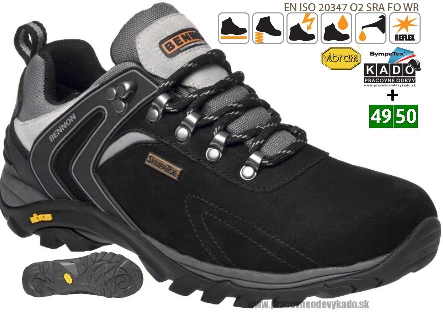 3cc49fb740 Pracovná obuv - treková poltopánka BENNON RECADO O2