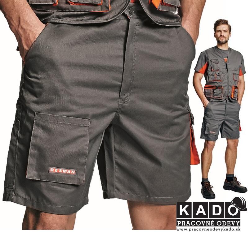 Pracovné odevy - Montérkové šortky DAVID ORION CXS šedo-šierne ... 901e6edf8d