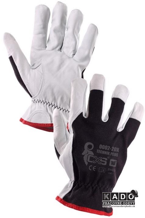 Pracovné rukavice TECHNIK PLUS CXS ČIERNO-BIELE bf0f6278a2