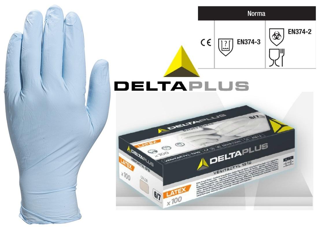 Pracovné rukavice nitril jednorázové VENITACTYL PÚDROVANÉ 1400B100  BALENIE 100ks ab0a637d98