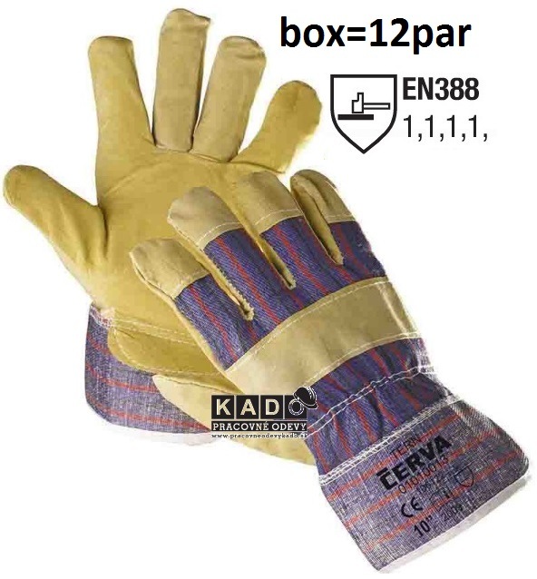 Pracovné rukavice TERN ČERVA nový materiál b75af93359