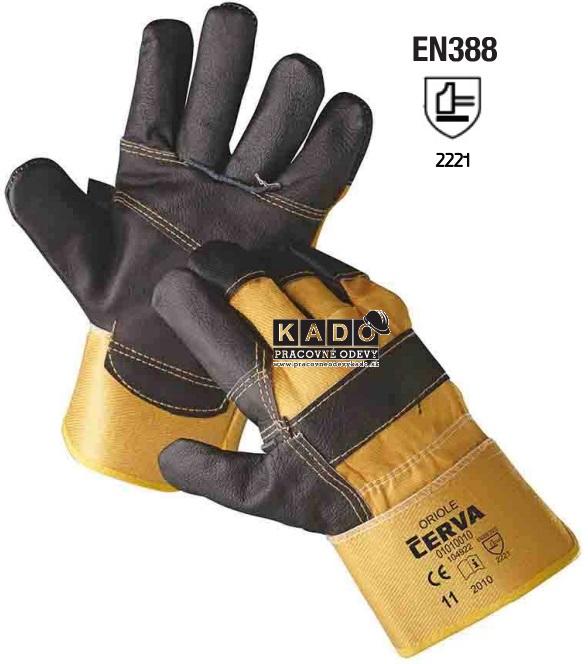 Pracovné rukavice ORIOLE ČERVA 12aac6924d
