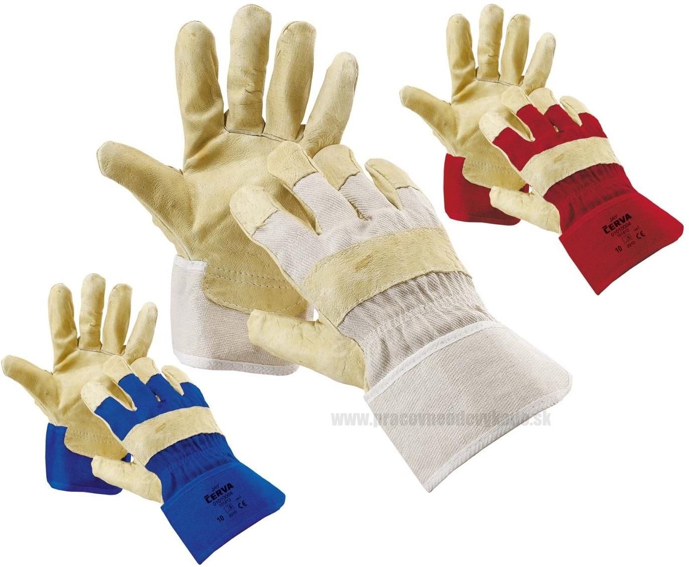 Pracovné rukavice JAY ČERVA 2eff943ced